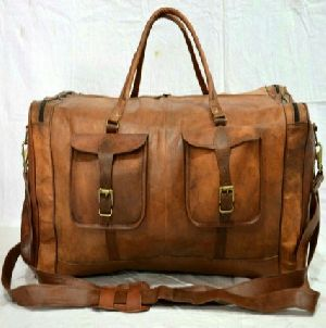 PH058 Vintage Leather Duffle Bag