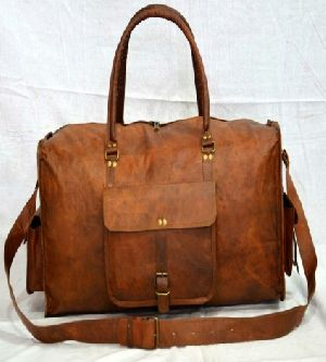 PH059 Genuine Leather Duffle Bag