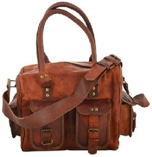 PH061 Genuine Leather Duffle Bag