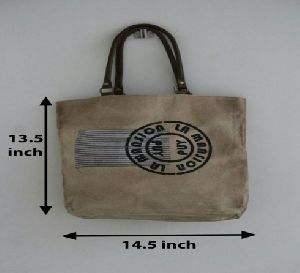 PH083 Canvas Mix Leather Tote Bag