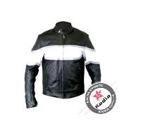 Mens Black & White Fashion Leather Jackets