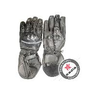 Long Leather Motorcycle Gloves