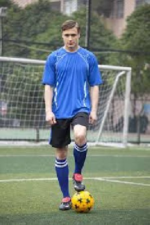 Mens Blue & Black Soccer Uniform