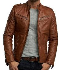 Mens Light Brown Leather Jackets