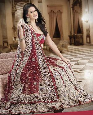 Heavy Stone Work Bridal Lehenga Choli