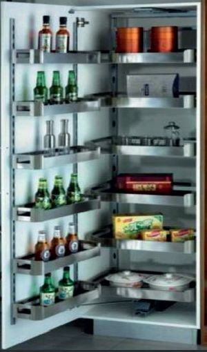Stainless Steel Pantry Pull Out Unit