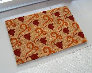 Natural Printed PVC Tufted Coir Mat (LE-1008)