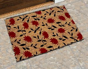 Natural Printed PVC Tufted Coir Mat (LE-1009)