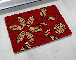 Natural Printed PVC Tufted Coir Mat (LE-1367)