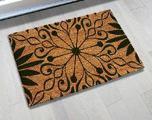 Natural Printed PVC Tufted Coir Mat (LE-1726)