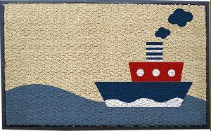 Printed Rubberised Coir Mat (LE-87270)