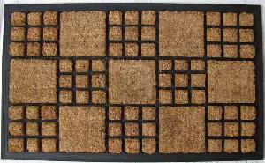 Rubber Moulded Coir Brush Door Mat 03