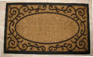 Rubber Moulded Coir Brush Door Mat 07