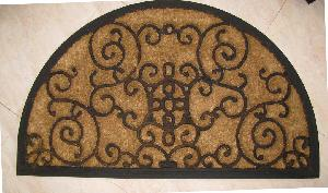 Rubber Moulded Coir Brush Door Mat 09