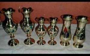 Brass Flower Vase 02