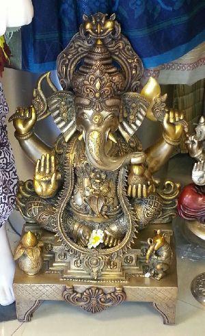 Brass God Statue 01