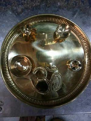 Brass Pooja Thali 01