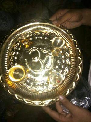 Brass Pooja Thali 02
