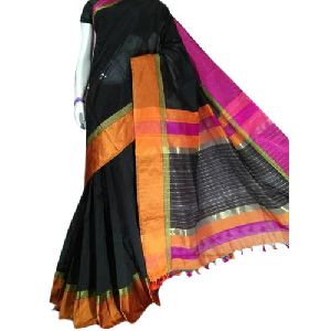 Black Cotton Silk Sarees