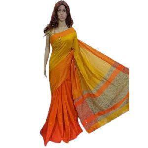 Yellow and Orange Handloom Sarees