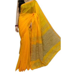Yellow Handloom Sarees