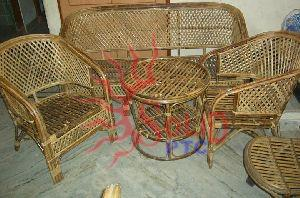 Cane Wood Sofa Set 02