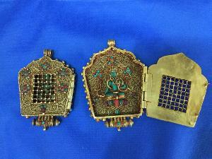 Gold Plated Ghau Pendant