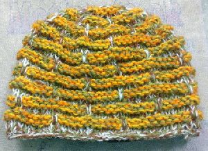 Yellow Striped Woolen Cap
