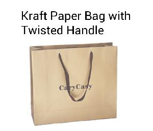 Paper Bag with Twisted Handles