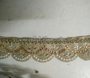 Diamond Pearl China Cut Work Laces