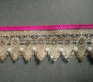 Daimond Pearl Work  Stich Cover Paiping China Cut Work Laces