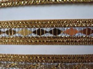 Glitter Golden Saree Laces 12
