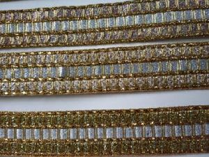 Glitter Golden Saree Laces 13