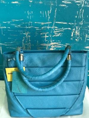 Folded Cyan Tote Bag