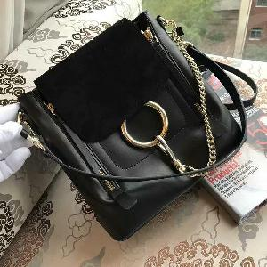 Suede Leather Black Tote Bag