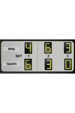 6 Digits Tennis Self Supporting Scoreboard
