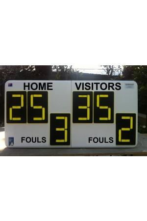 6 Digit Baseball Self Supporting Scoreboard