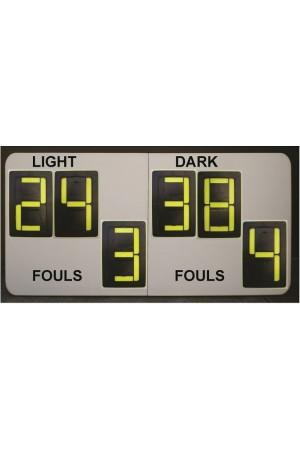 6 Digit Netball Self Supporting Scoreboard