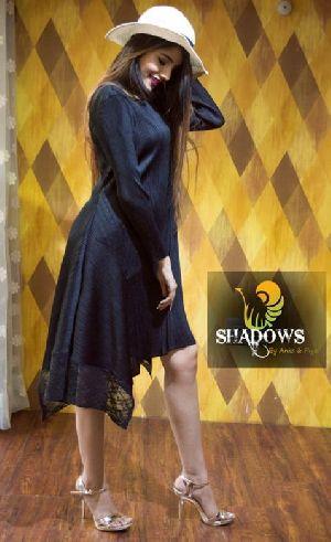 Ladies Black Stylish One Piece Dress