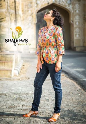Ladies Brocade Printed Jacket