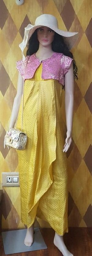 Ladies Love in Yellow One Piece Dress