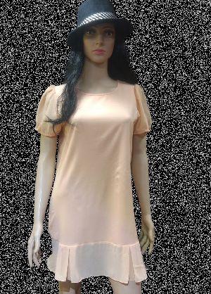 Ladies Pretty Peach One Piece Dress