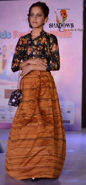 TD-013 Ladies Bageecha Top & Skirt