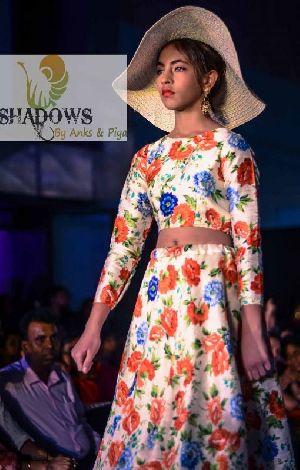 TD-015 Ladies Bageecha Top & Skirt