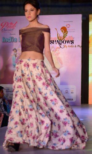 TD-017 Ladies Bageecha Top & Skirt