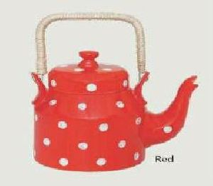 Red Bone China Kettle