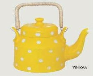Yellow Bone China Kettle