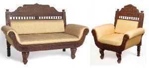 Wooden Carving Sofa Set 02