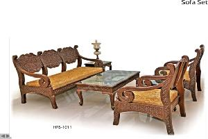 Wooden Carving Sofa Set 03