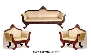 Wooden Carving Sofa Set 04